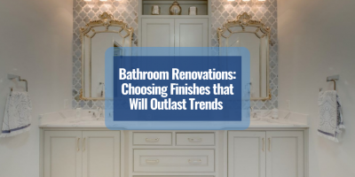 image of a recently renovated bathroom featuring classic finishes